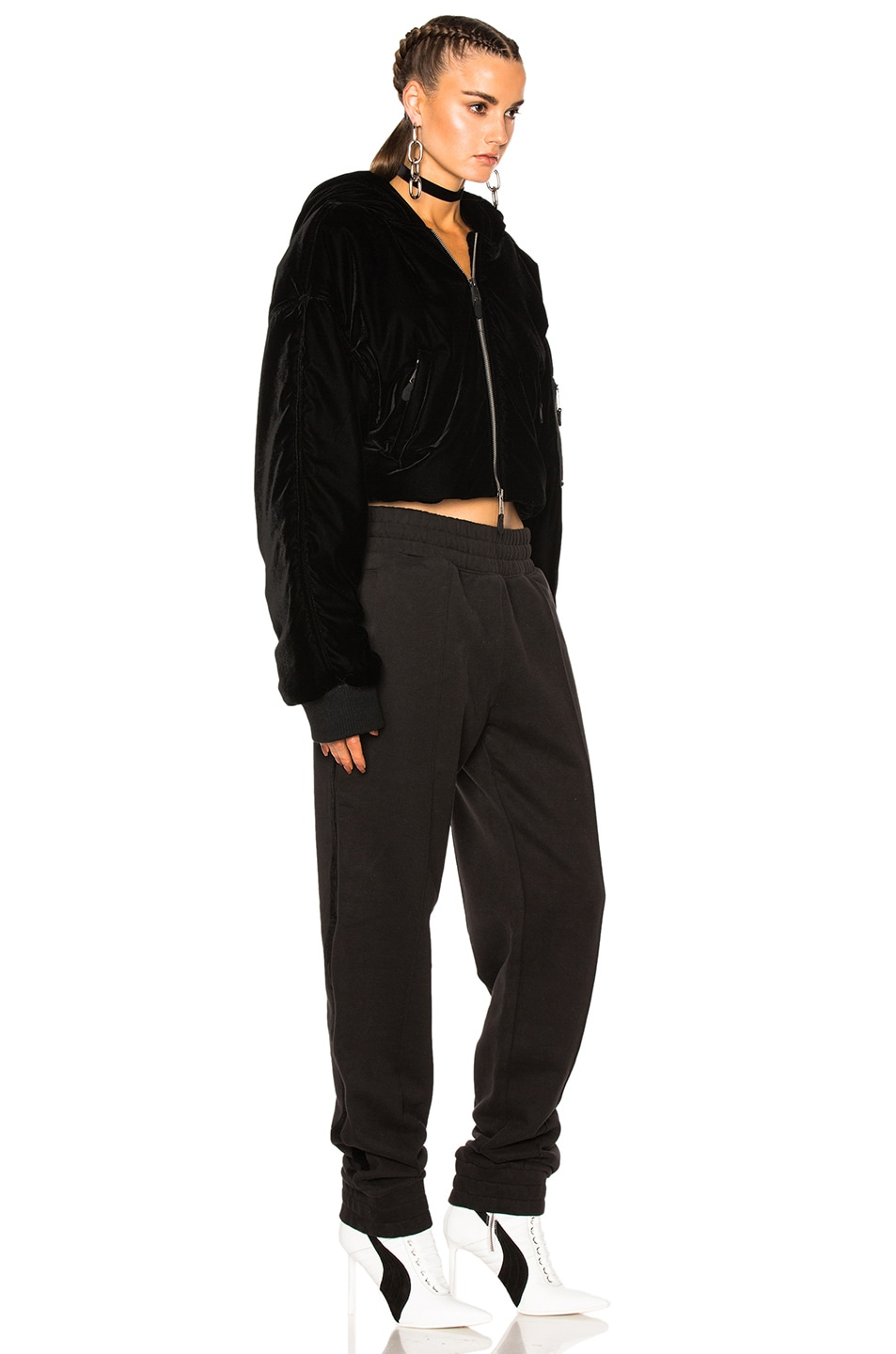 Image 4 of Fenty by Puma Cropped Bomber in Black