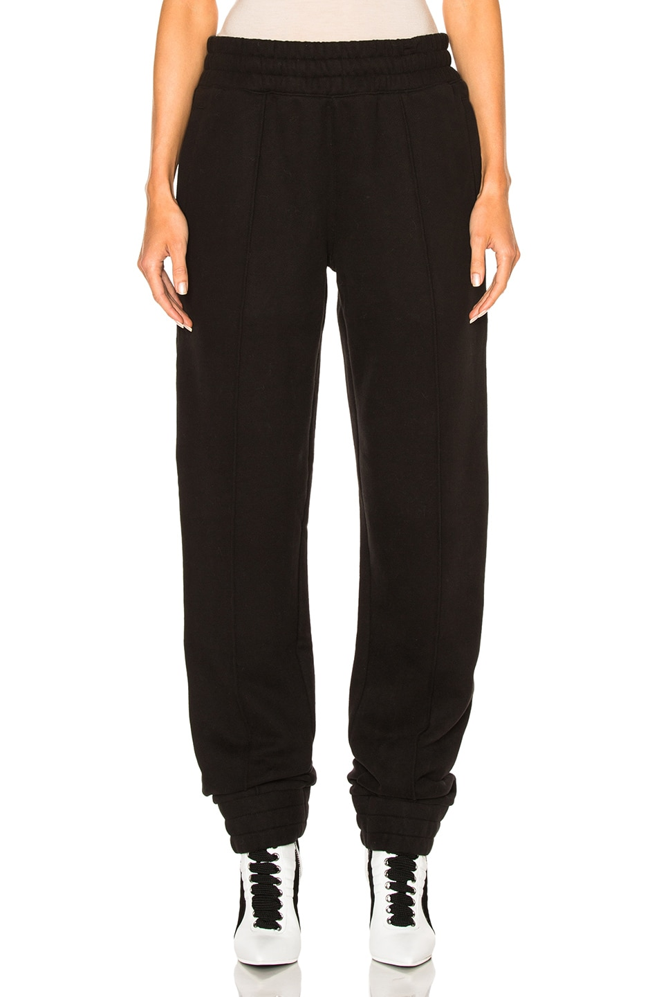 Image 1 of Fenty by Puma Fleece Pant with Velvet Taping in Black
