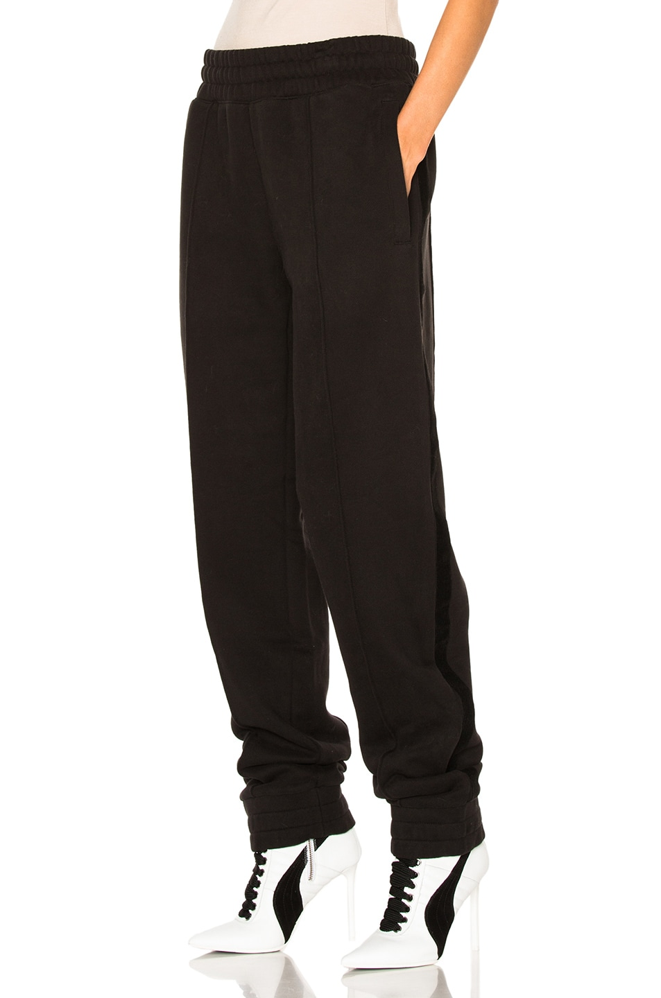 Image 2 of Fenty by Puma Fleece Pant with Velvet Taping in Black