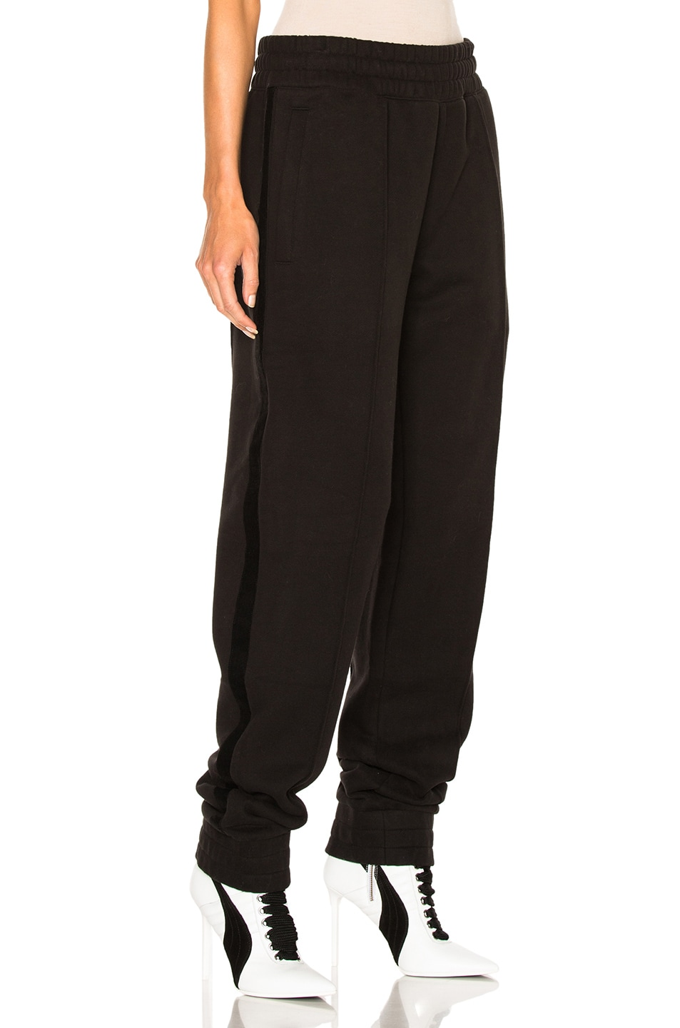 Image 3 of Fenty by Puma Fleece Pant with Velvet Taping in Black