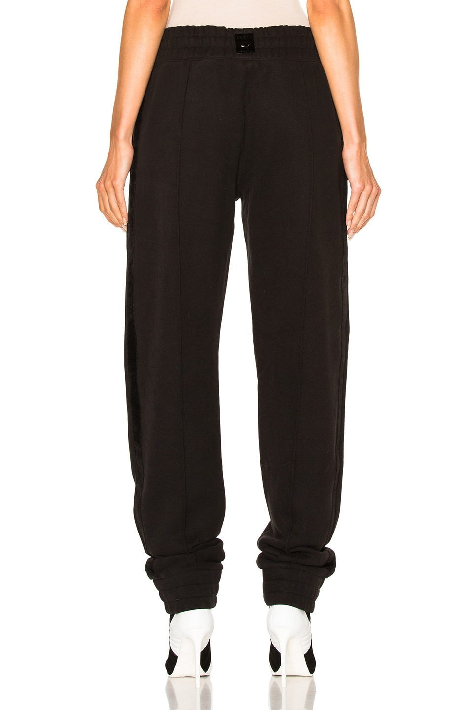 Image 4 of Fenty by Puma Fleece Pant with Velvet Taping in Black