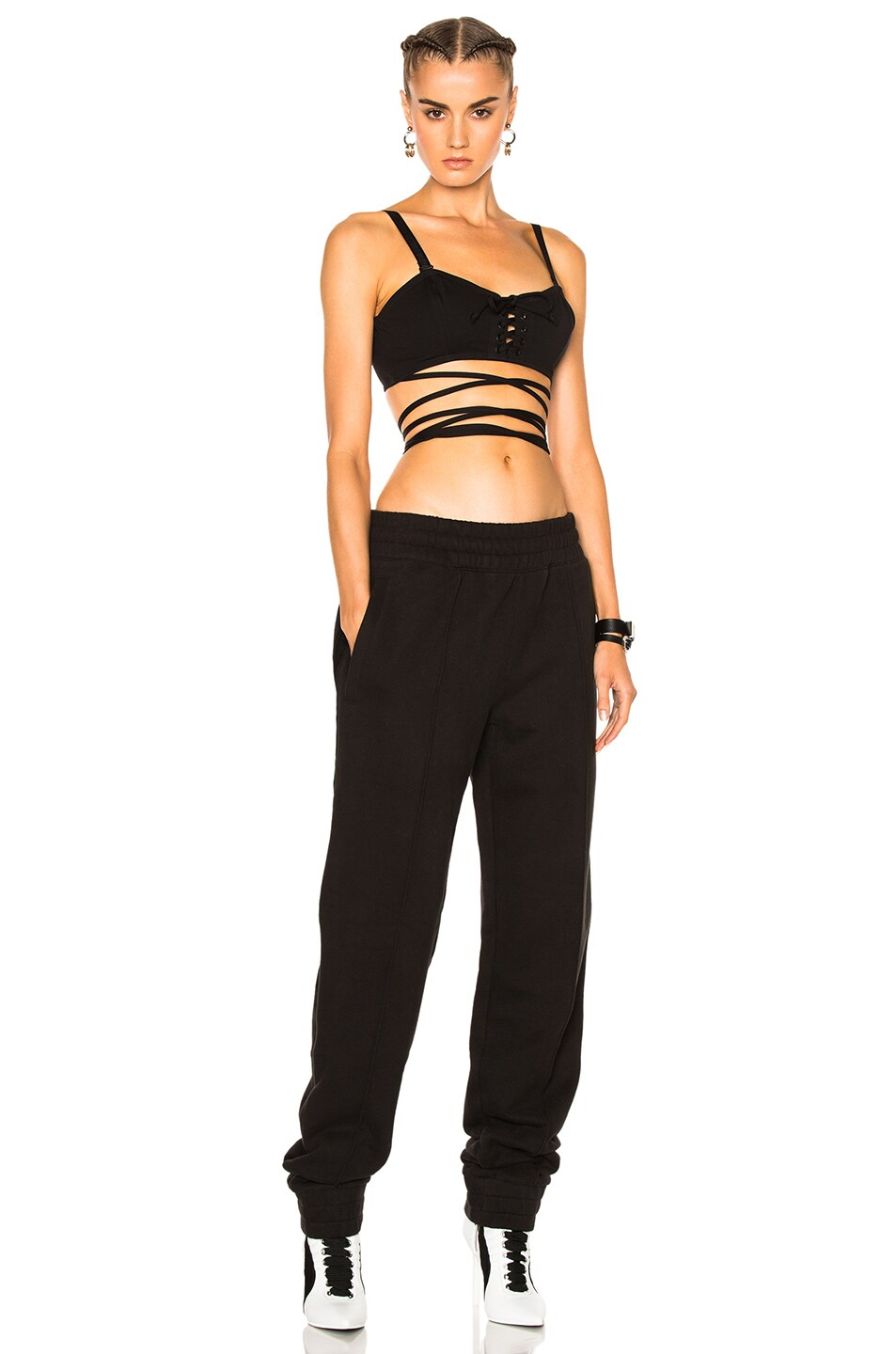 Image 5 of Fenty by Puma Fleece Pant with Velvet Taping in Black