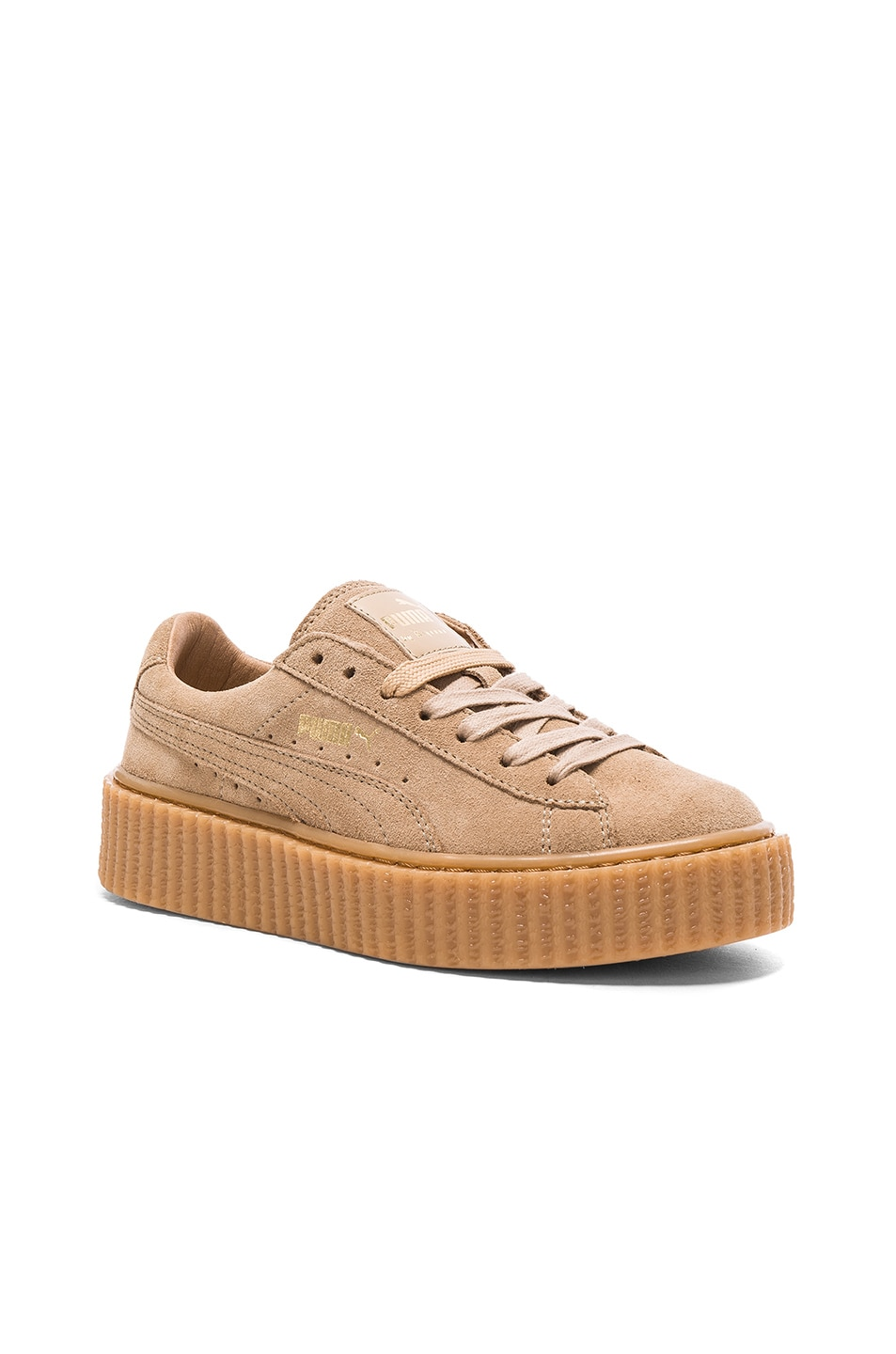 Image 2 of Fenty by Puma Suede Creepers in Oatmeal