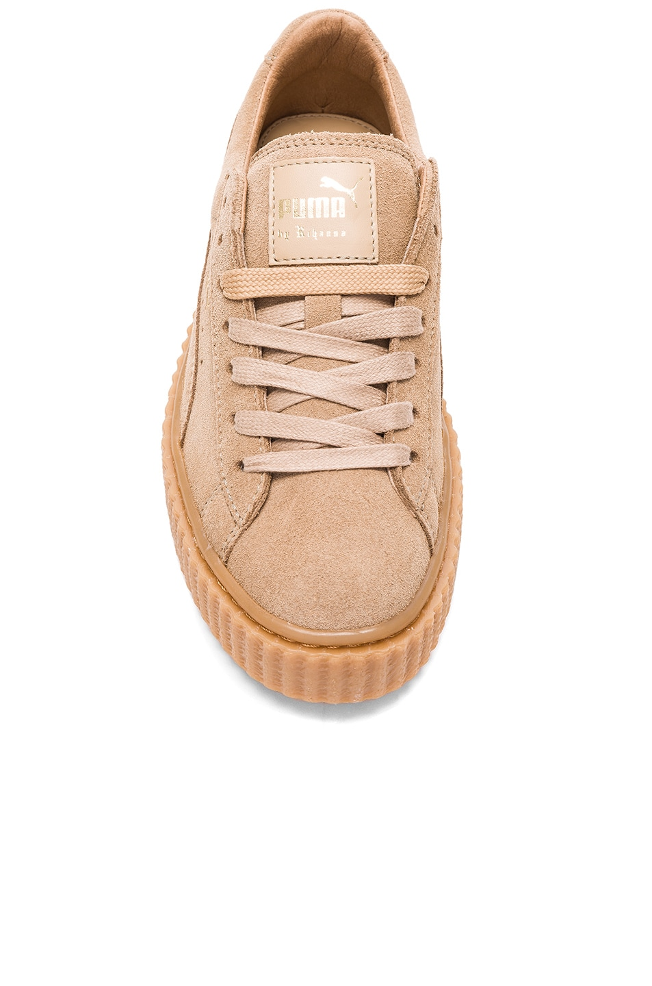 Image 4 of Fenty by Puma Suede Creepers in Oatmeal