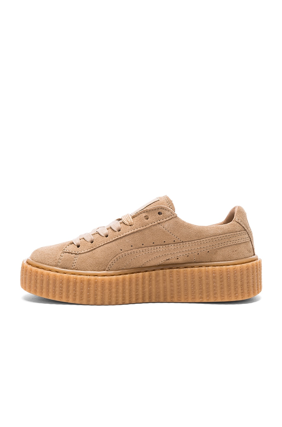 Image 5 of Fenty by Puma Suede Creepers in Oatmeal