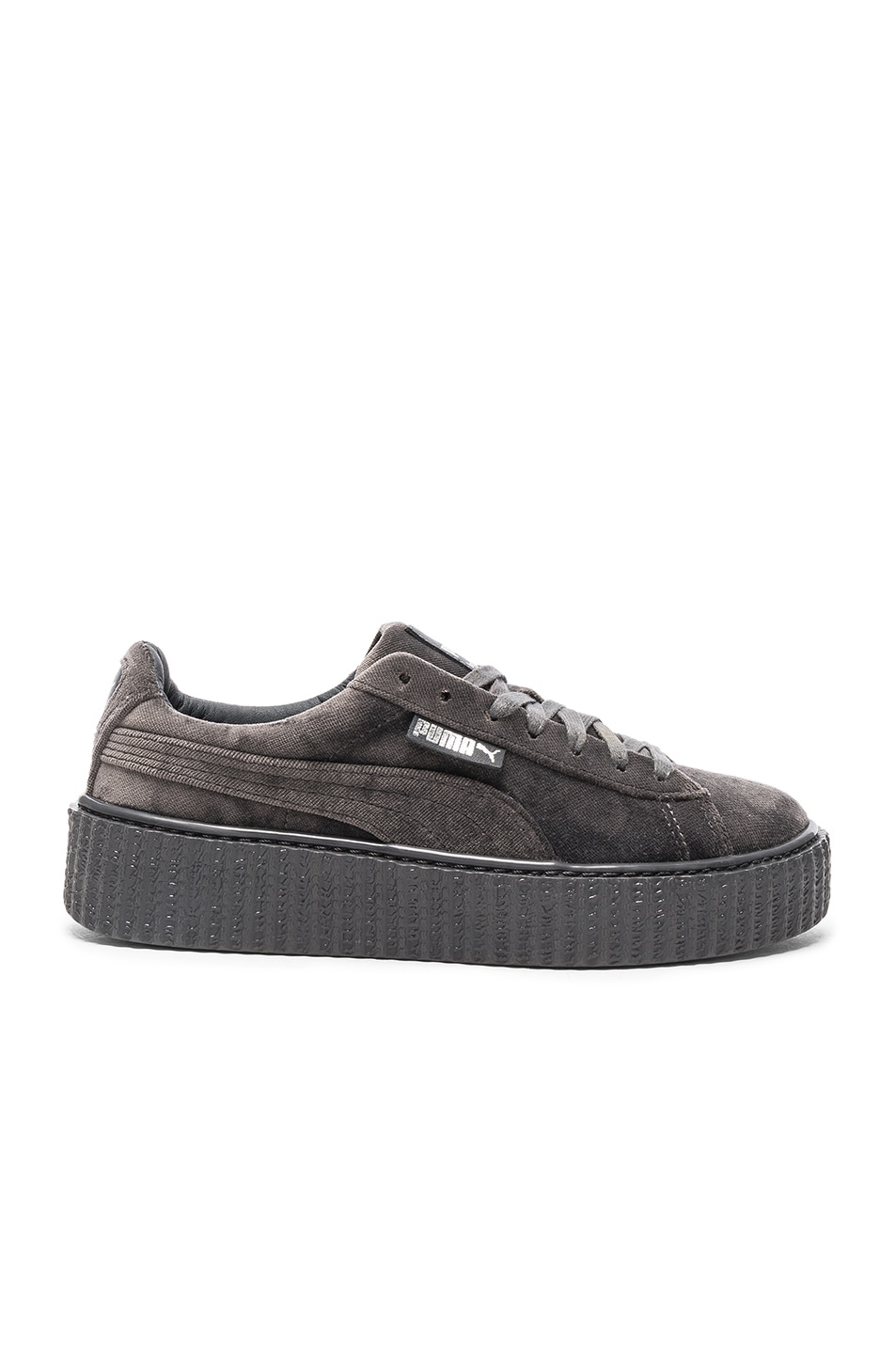 Image 1 of Fenty by Puma Creepers Velvet in Glacier Gray