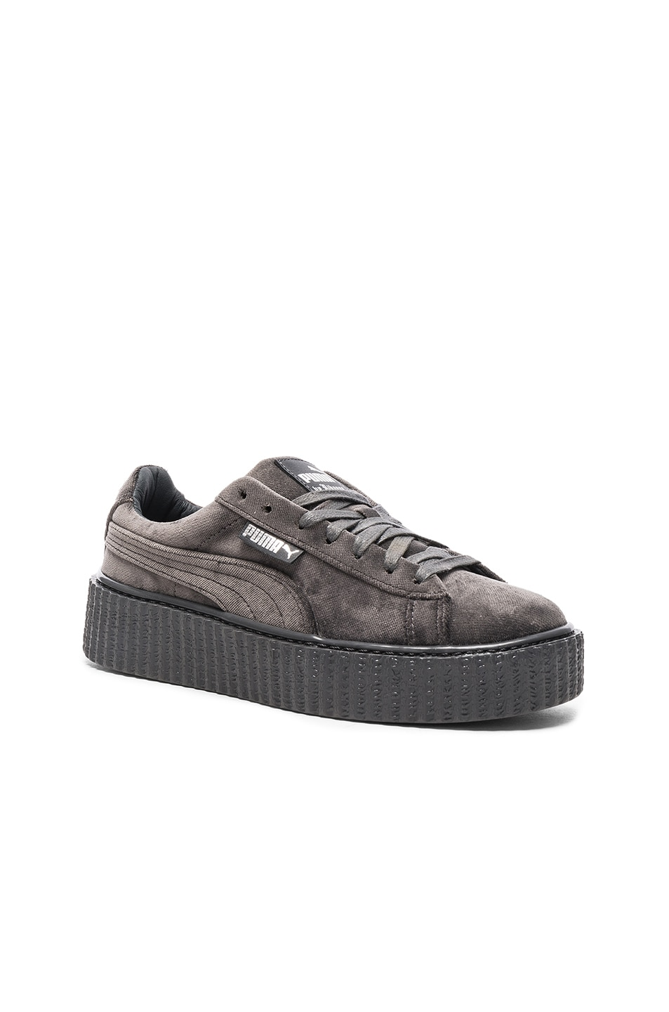 Image 2 of Fenty by Puma Creepers Velvet in Glacier Gray
