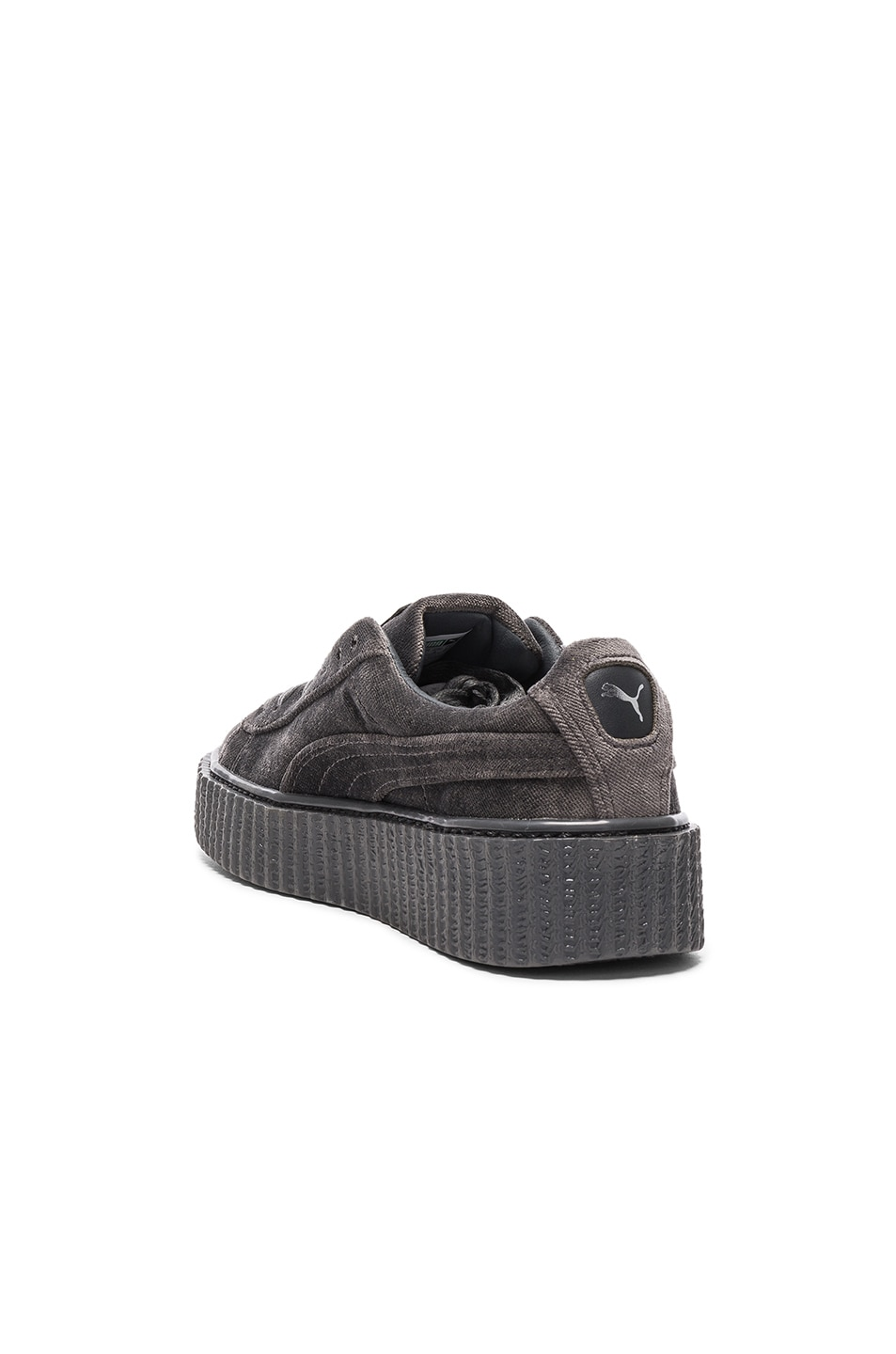 Image 3 of Fenty by Puma Creepers Velvet in Glacier Gray