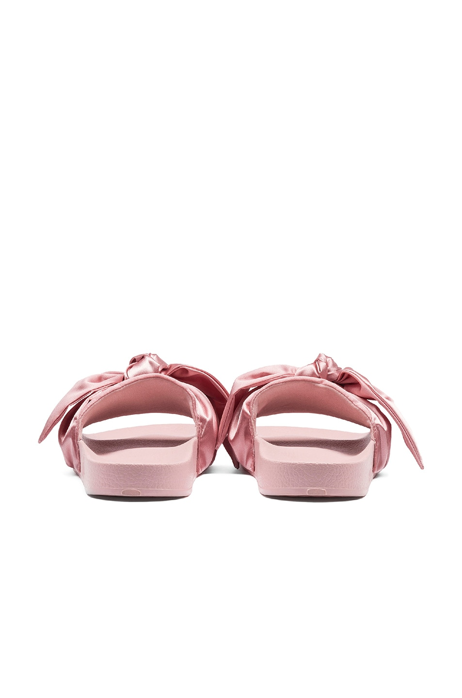 Image 3 of Fenty by Puma Bow Satin Slides in Silver Pink