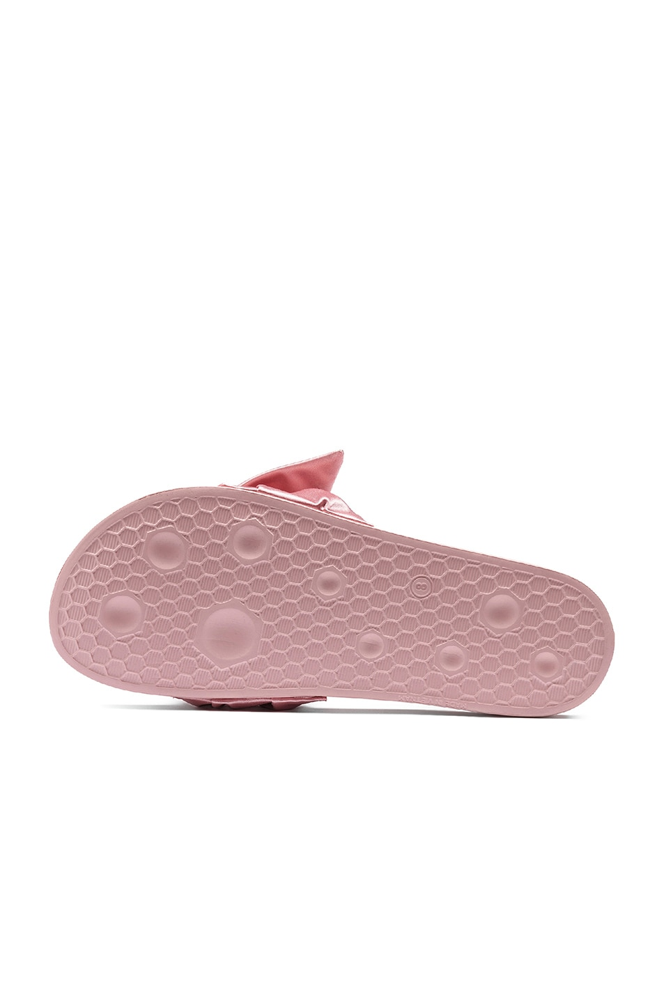Image 4 of Fenty by Puma Bow Satin Slides in Silver Pink