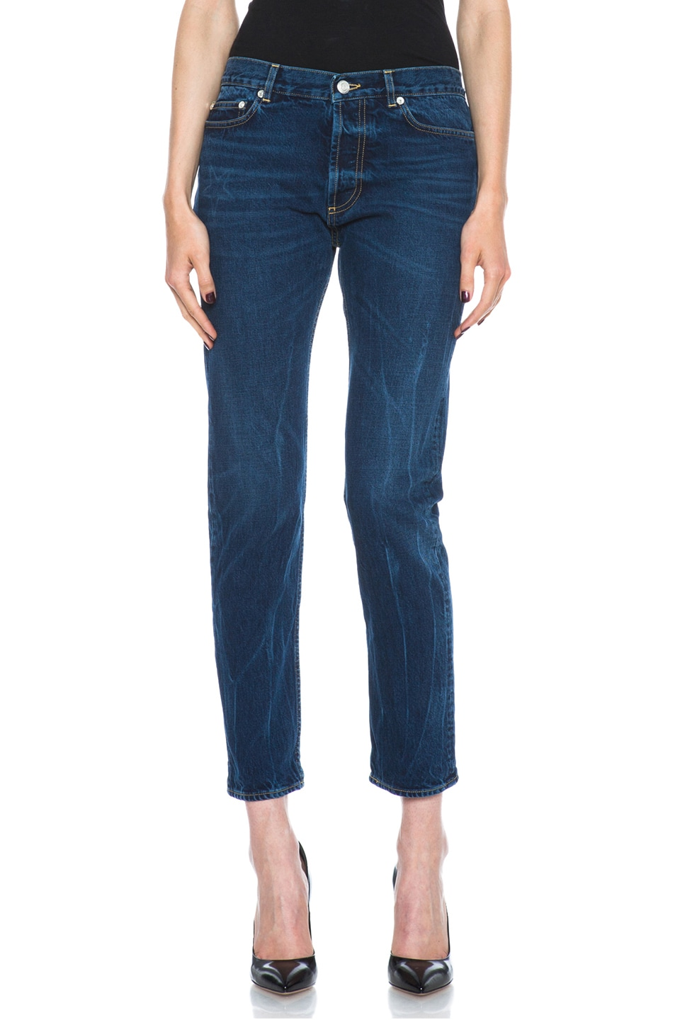 Image 1 of Golden Goose Jeans Dark Wash in Blue