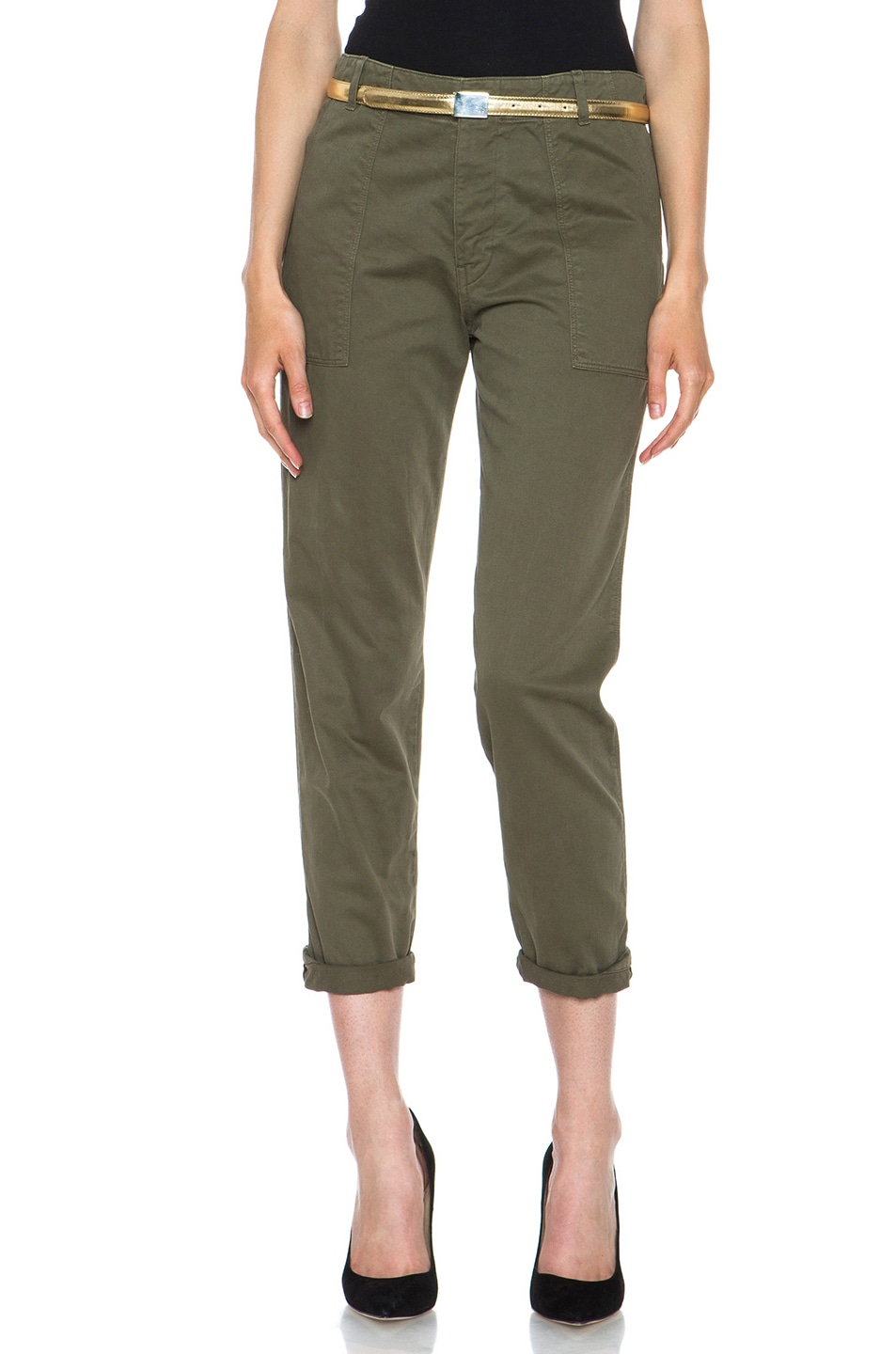 Image 1 of Golden Goose Cotton Chino in Military