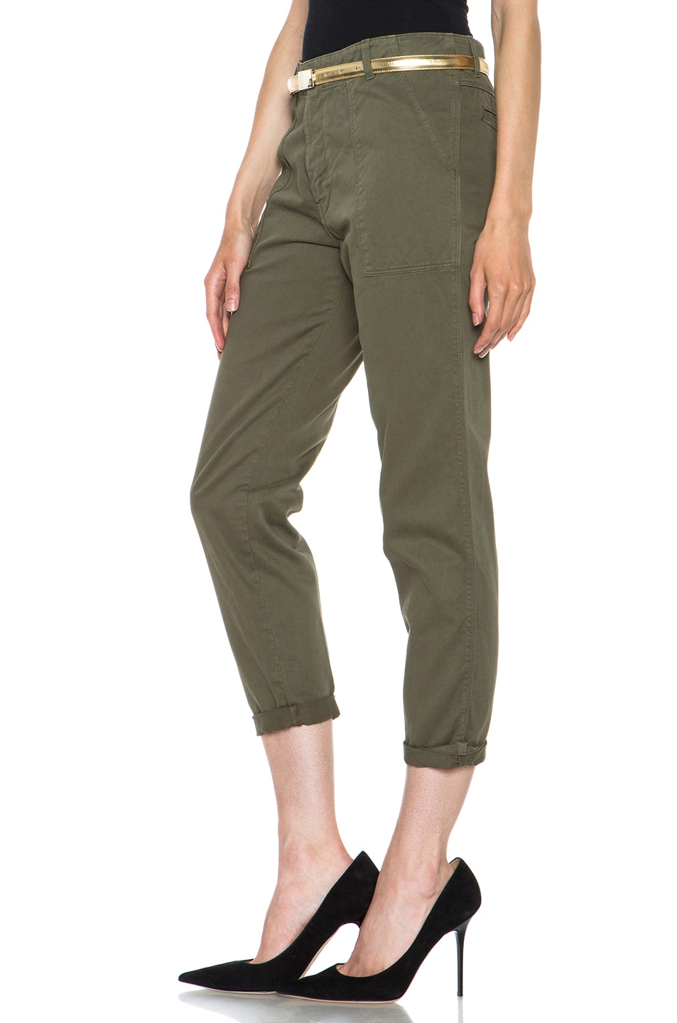 Image 2 of Golden Goose Cotton Chino in Military