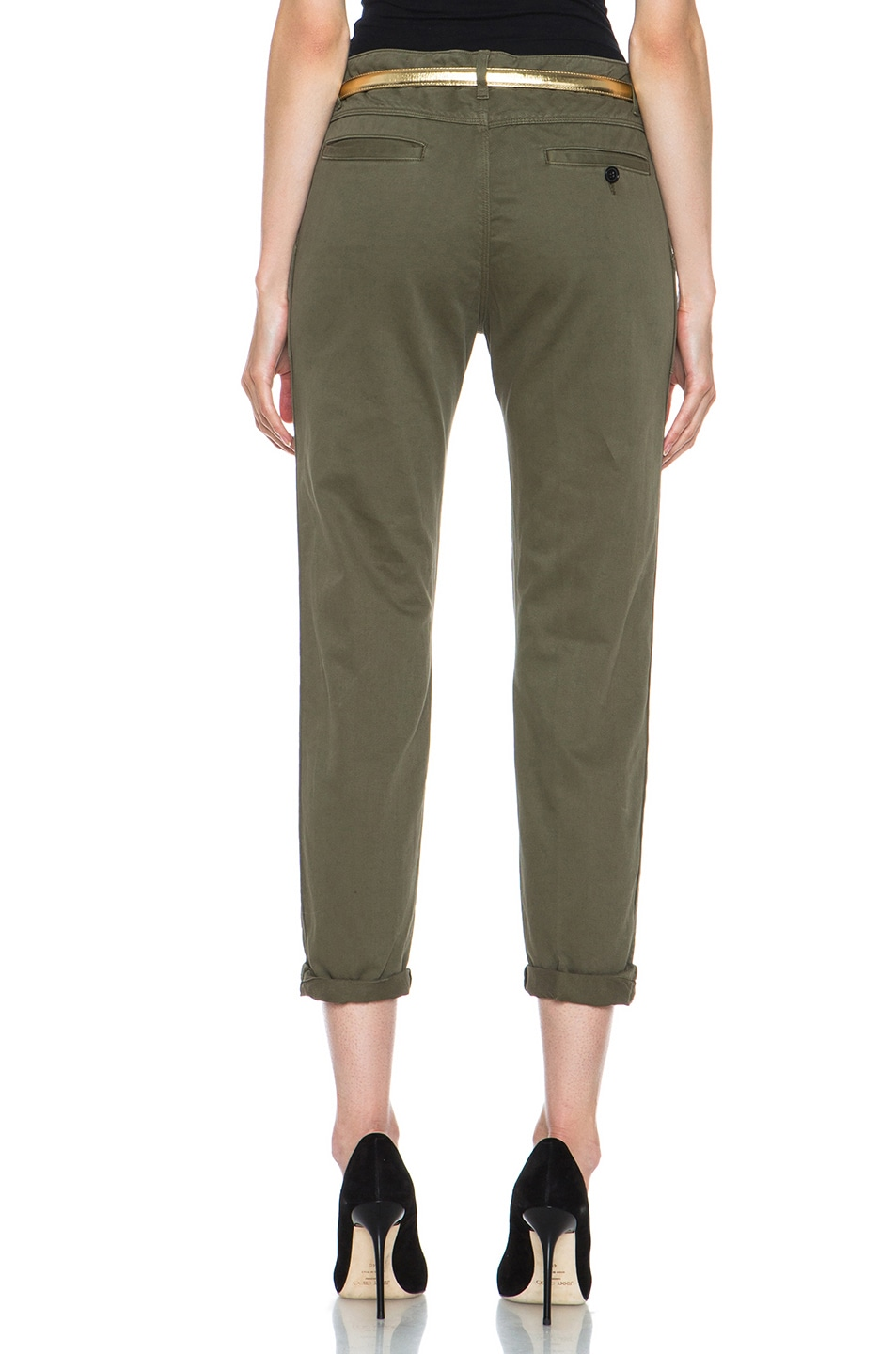 Image 4 of Golden Goose Cotton Chino in Military