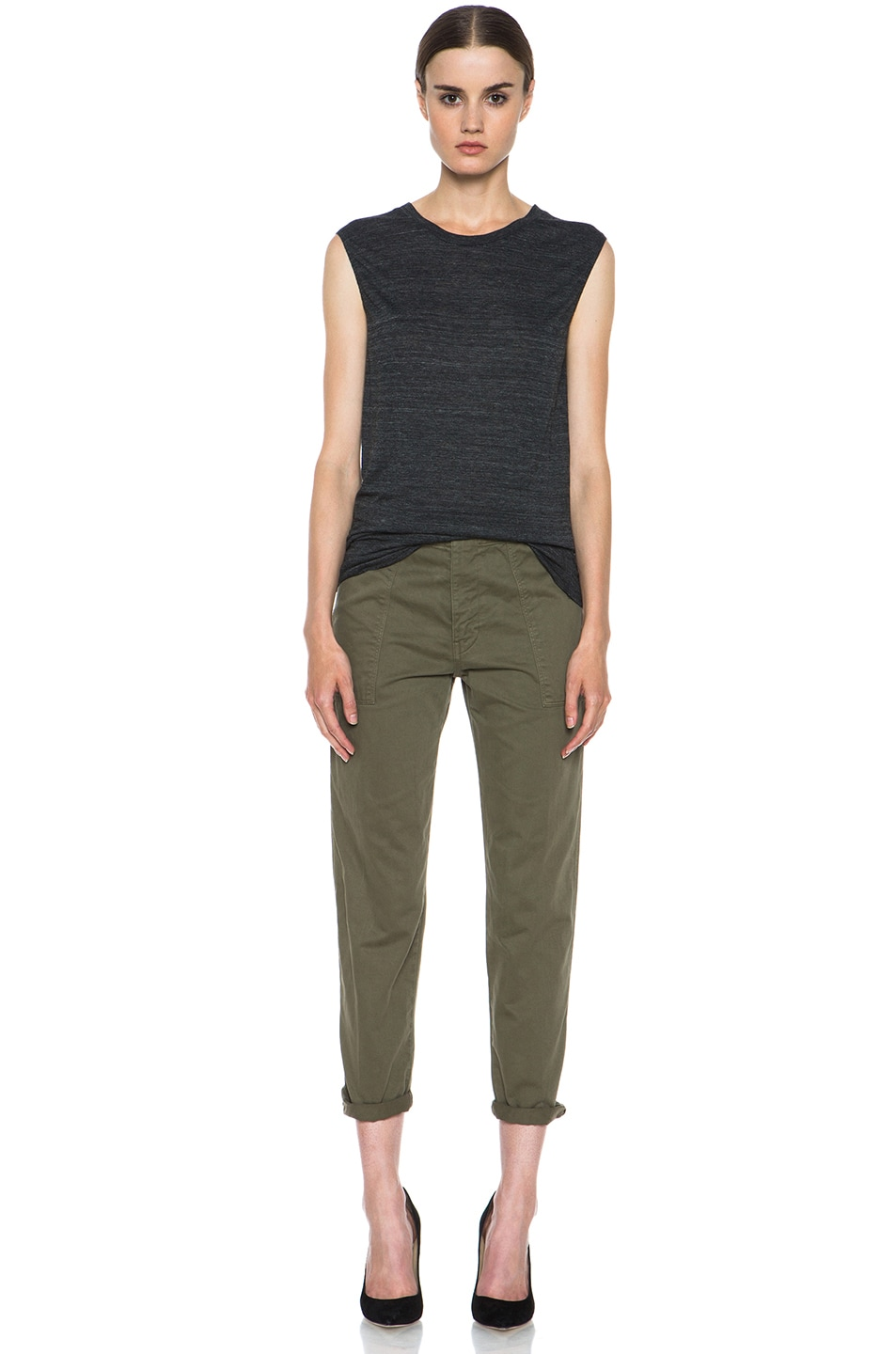 Image 5 of Golden Goose Cotton Chino in Military