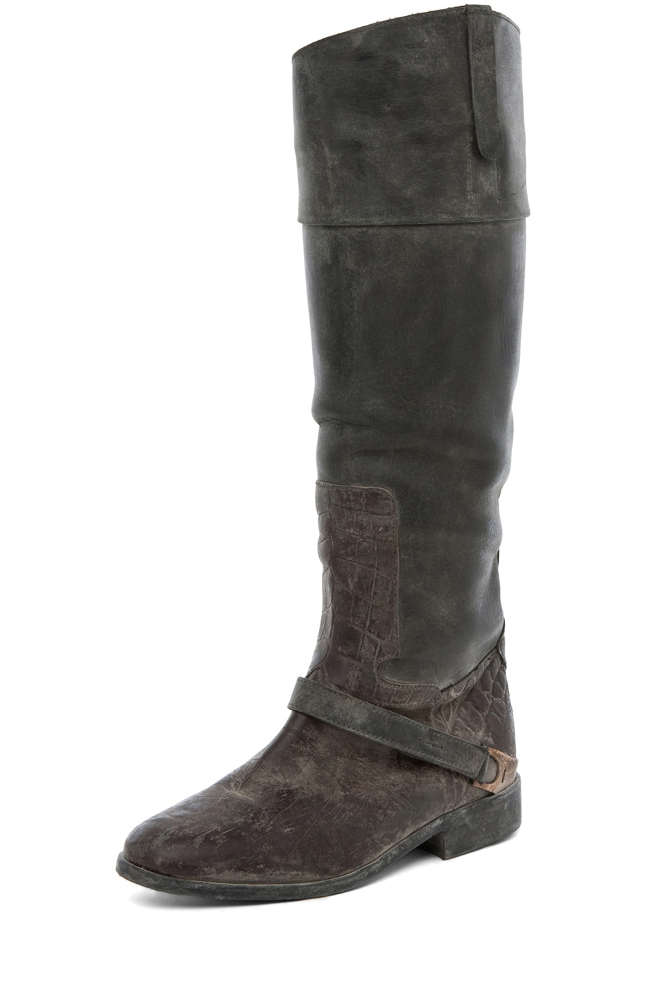 Image 2 of Golden Goose Charlye Boot in Croc Print