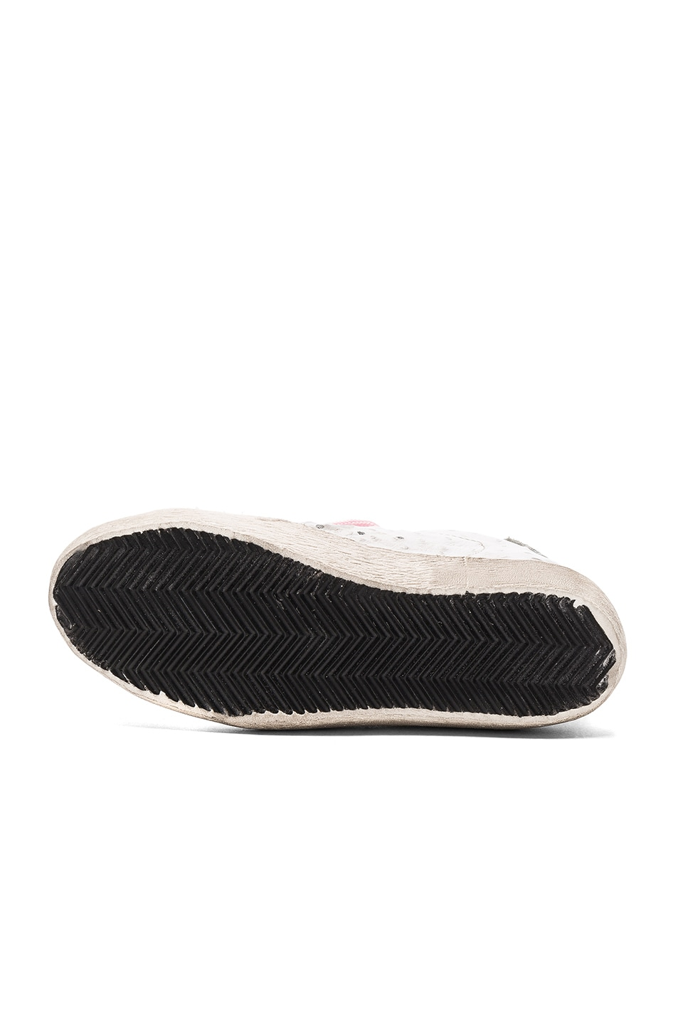 Image 6 of Golden Goose Leather Superstar Low Sneakers in White & Pink