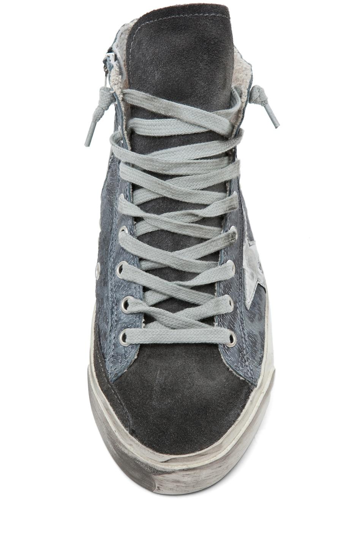 Image 4 of Golden Goose Francy Leopard High Top Sneaker in Silver