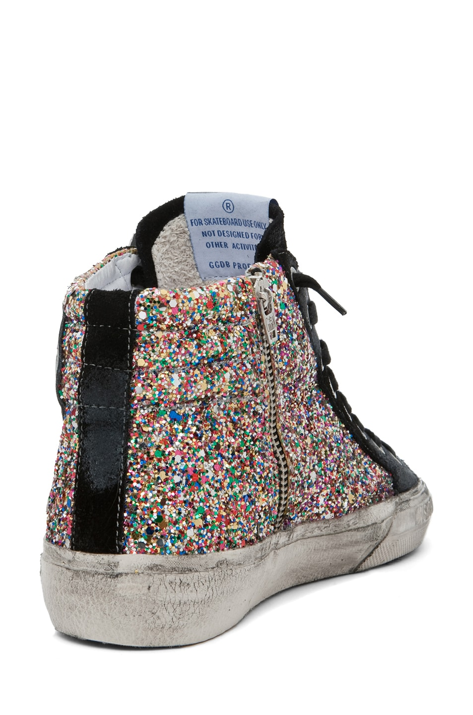 Image 3 of Golden Goose Slide Sneaker in Glitter