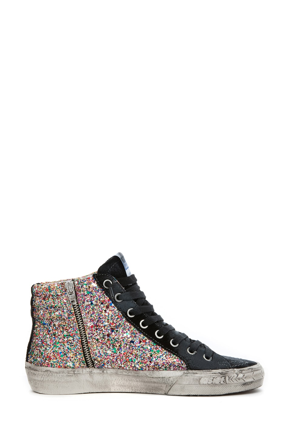 Image 5 of Golden Goose Slide Sneaker in Glitter