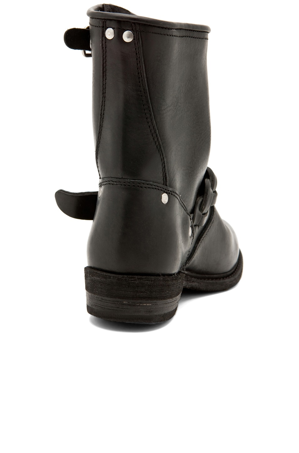 Image 3 of Golden Goose Leather Short Biker Boots in Black