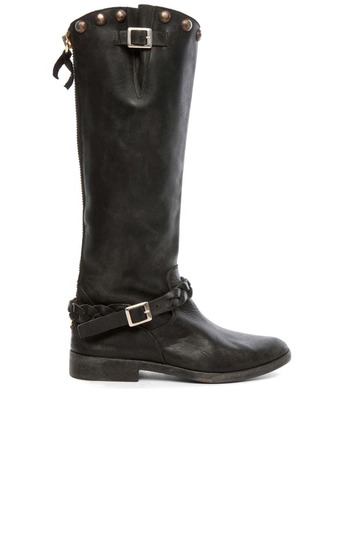 Image 1 of Golden Goose Rosebowl Leather Custom Brass Boots in Black