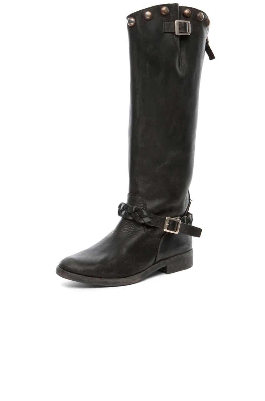 Image 2 of Golden Goose Rosebowl Leather Custom Brass Boots in Black