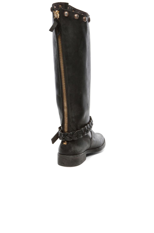 Image 3 of Golden Goose Rosebowl Leather Custom Brass Boots in Black