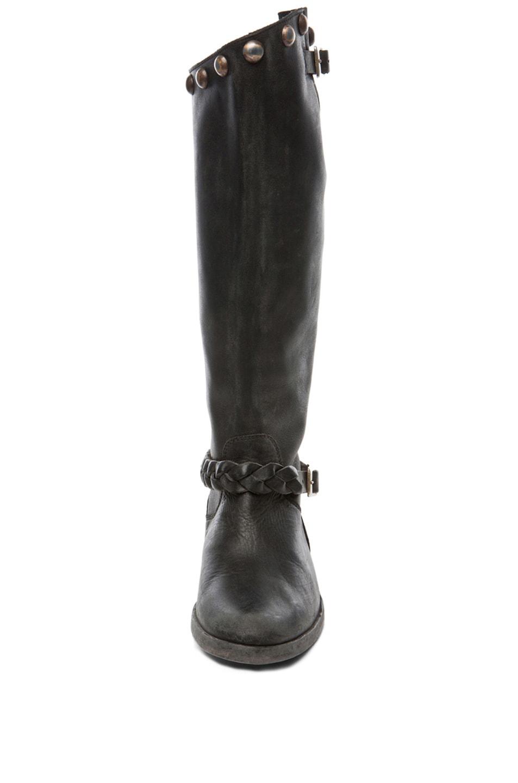 Image 4 of Golden Goose Rosebowl Leather Custom Brass Boots in Black