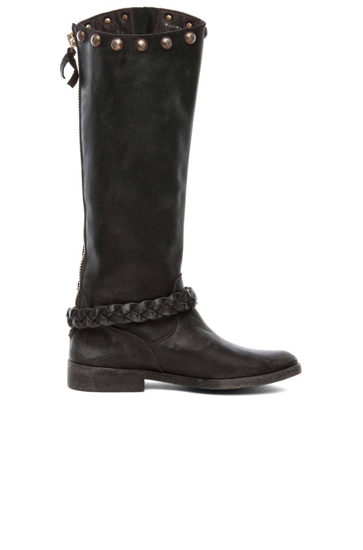 Image 5 of Golden Goose Rosebowl Leather Custom Brass Boots in Black