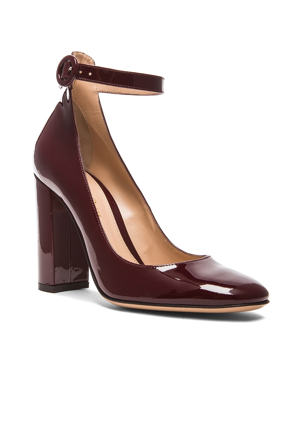 Image 2 of Gianvito Rossi Patent Leather Mary Jane Heels in Royale