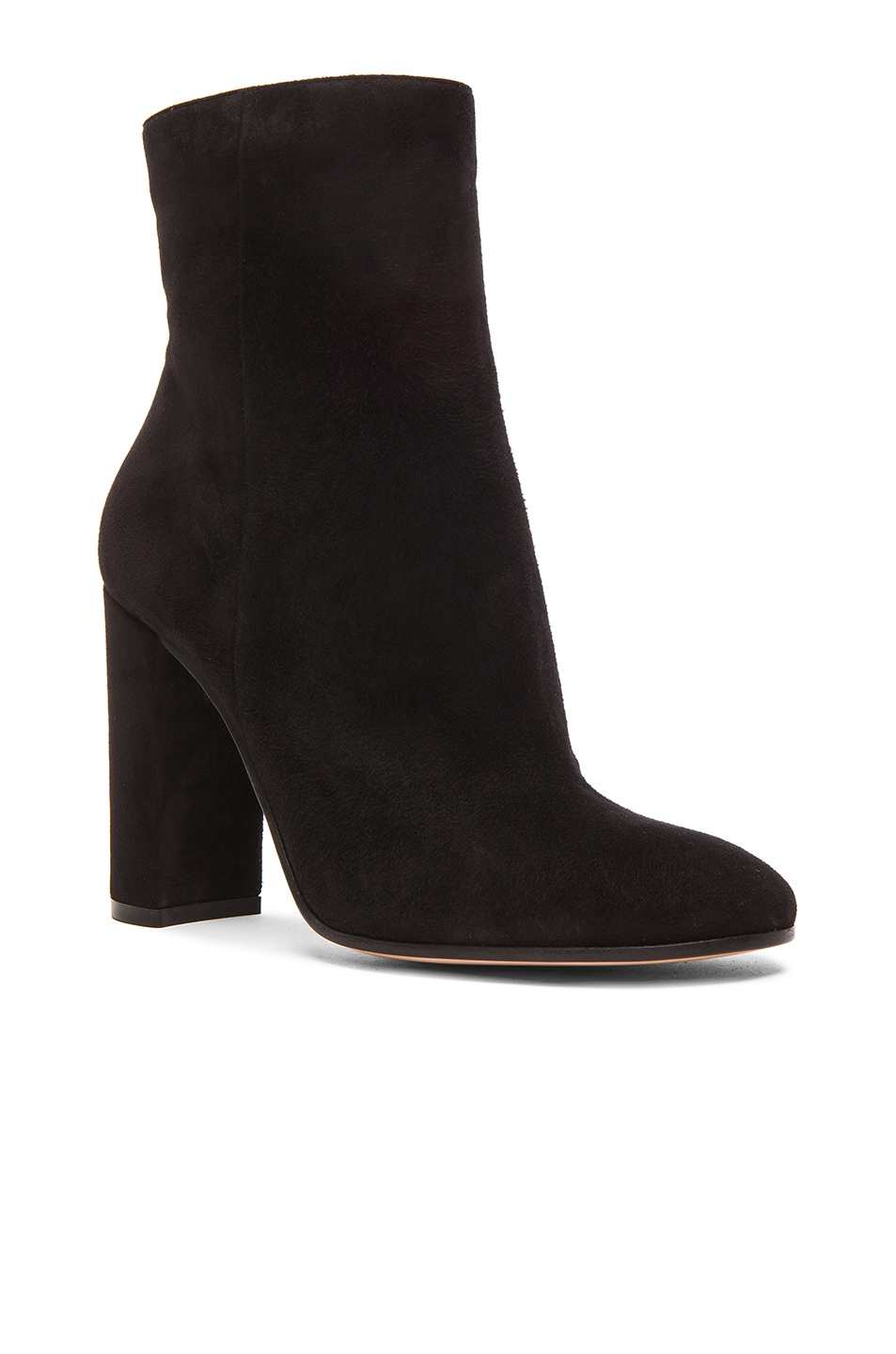 Image 2 of Gianvito Rossi Suede Booties in Black