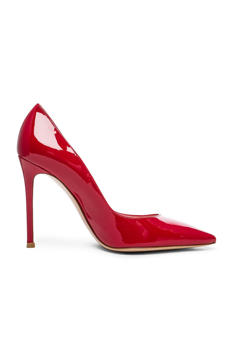 Image 1 of Gianvito Rossi Patent Leather Gianvito Pumps in Tabasco Red