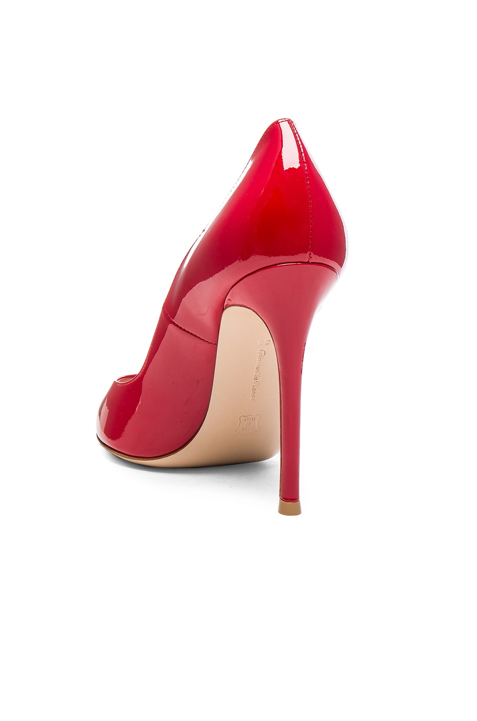 Image 3 of Gianvito Rossi Patent Leather Gianvito Pumps in Tabasco Red