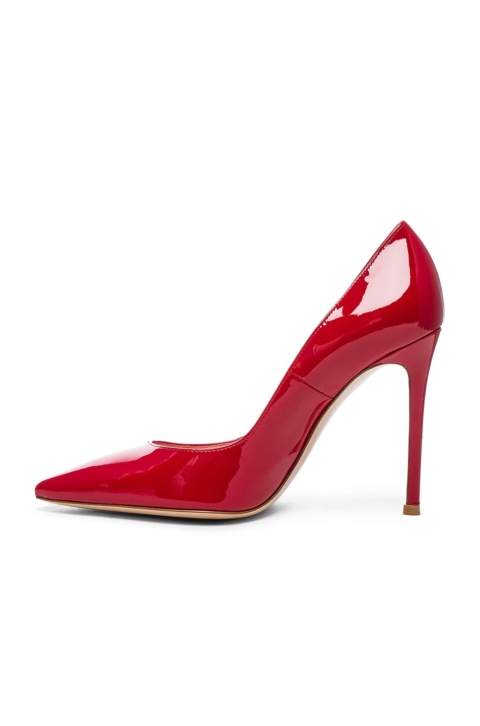 Image 5 of Gianvito Rossi Patent Leather Gianvito Pumps in Tabasco Red