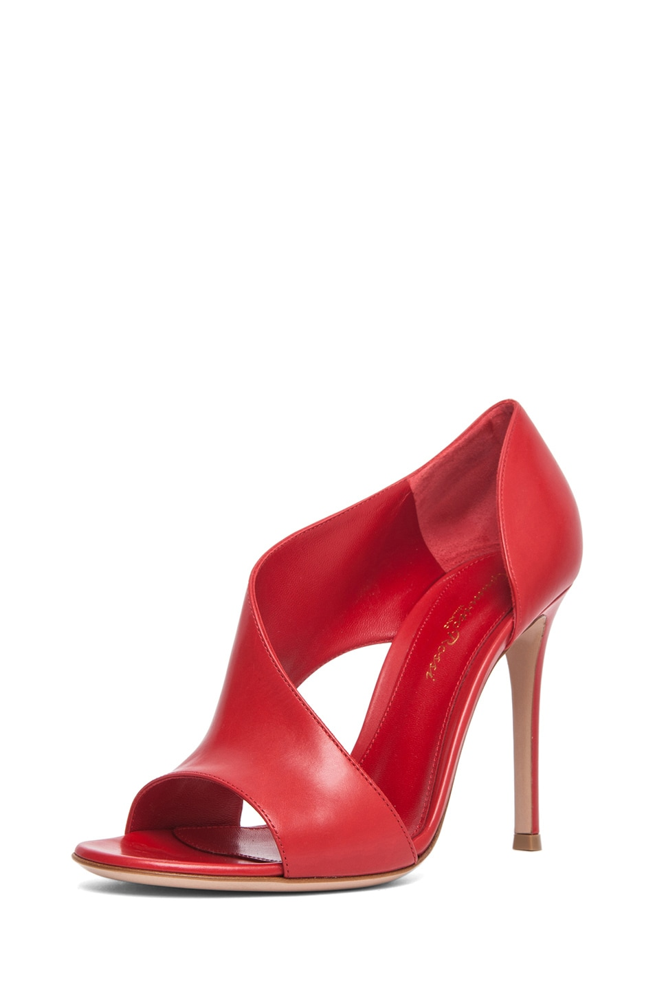 Image 2 of Gianvito Rossi Leather Heel in Red