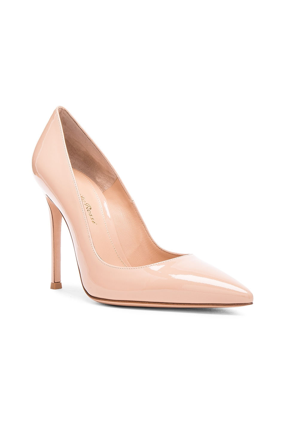 Image 2 of Gianvito Rossi Patent Leather Gianvito Pumps in Nude