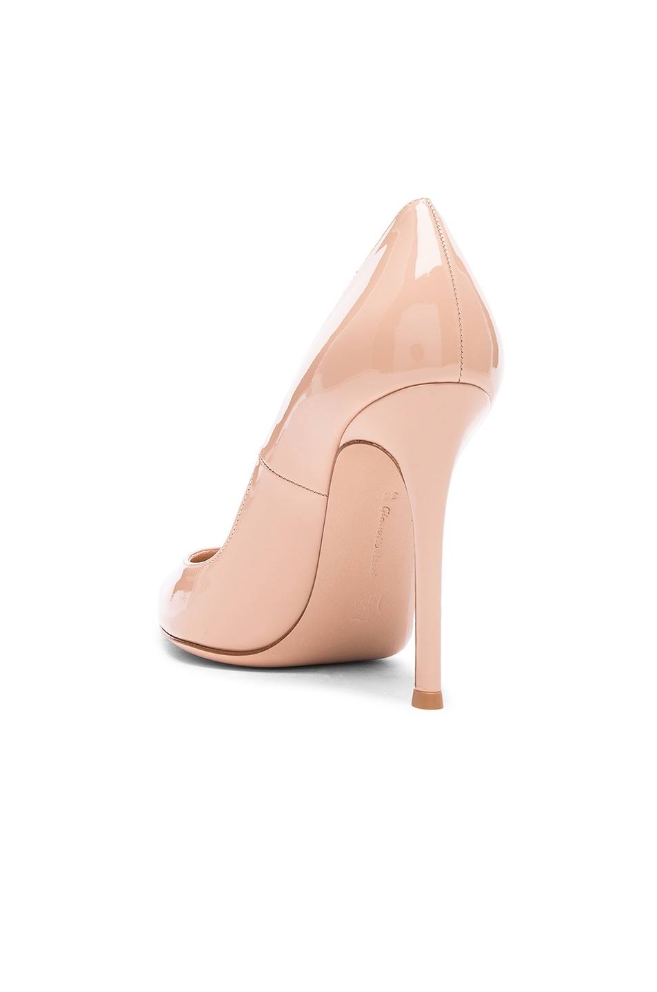 Image 3 of Gianvito Rossi Patent Leather Gianvito Pumps in Nude