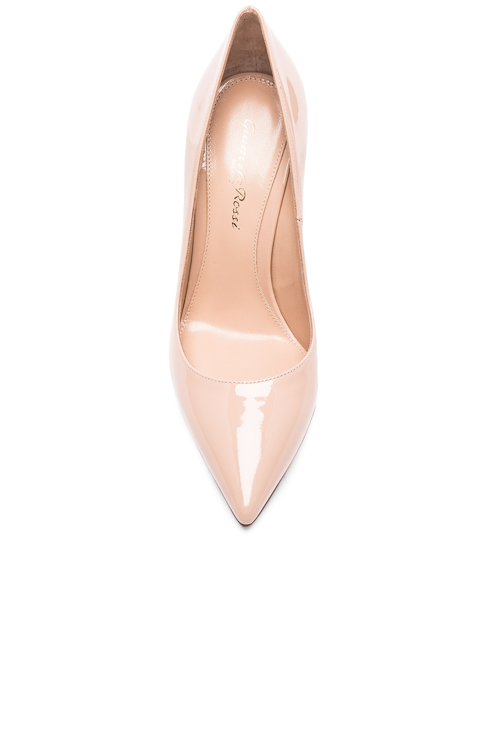 Image 4 of Gianvito Rossi Patent Leather Gianvito Pumps in Nude