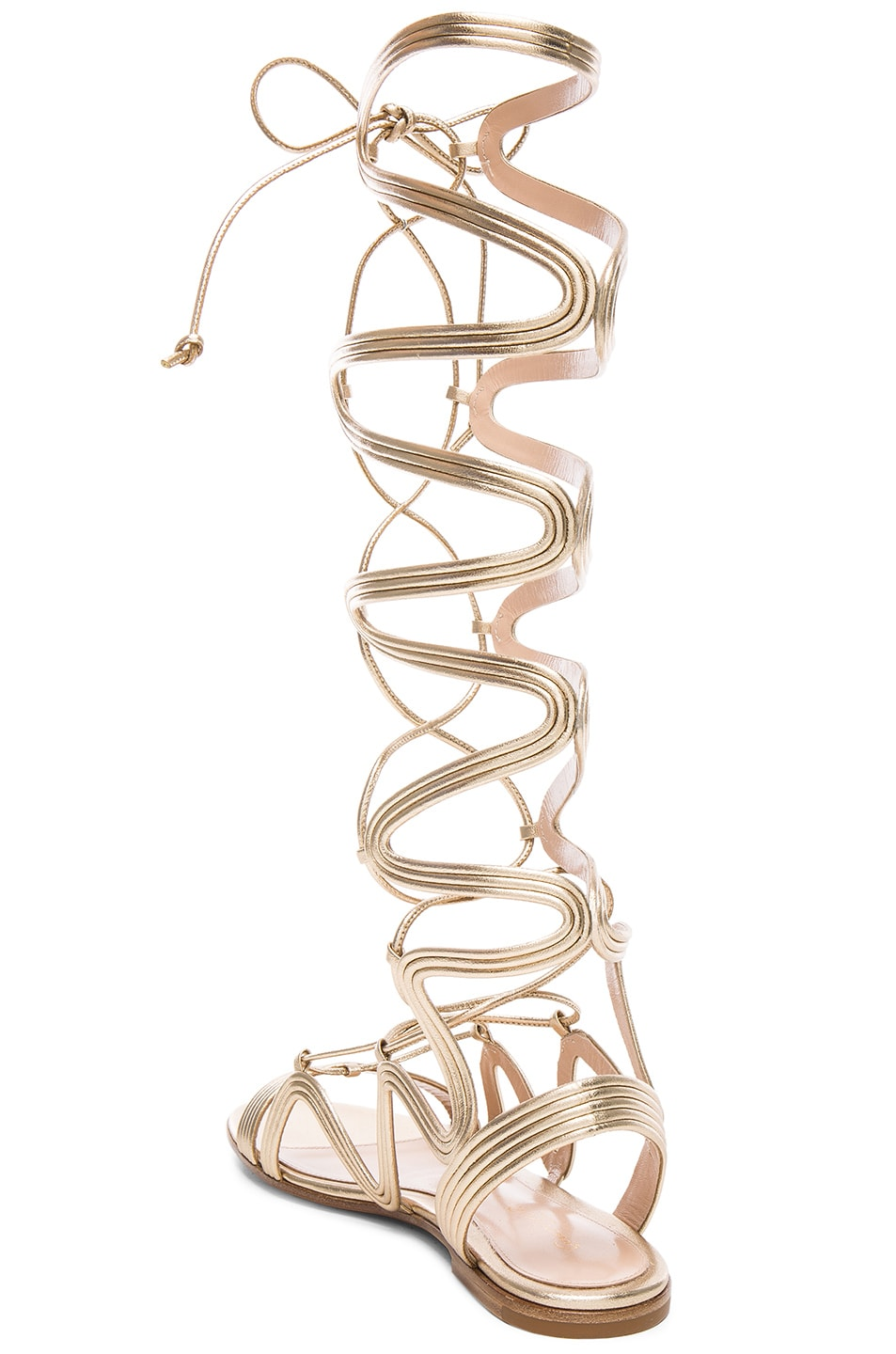Image 3 of Gianvito Rossi Leather Medusa Gladiator Sandals in Mekong