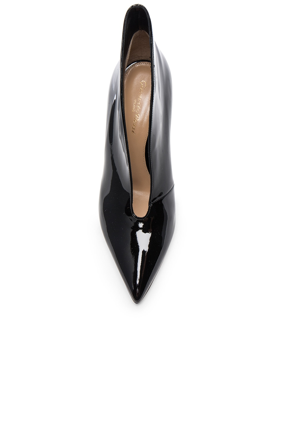 Image 4 of Gianvito Rossi Patent Cut Out Heels in Black