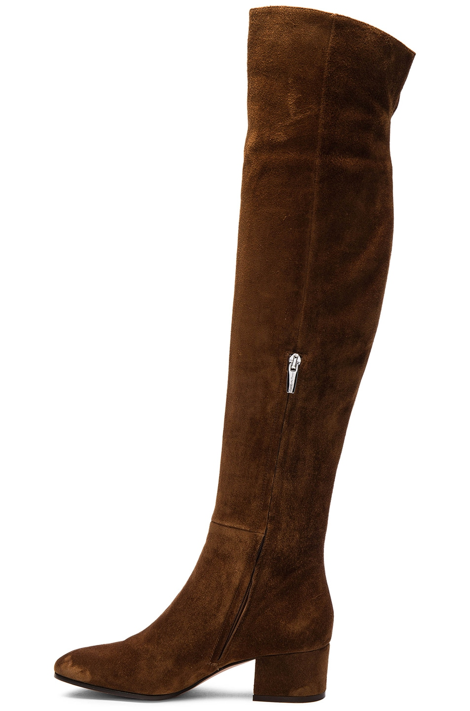 gianvito suede the knee boots in brown in
