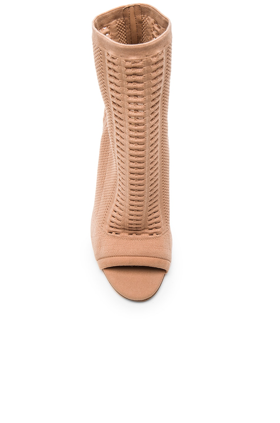 Image 4 of Gianvito Rossi Knit Vires Booties in Praline