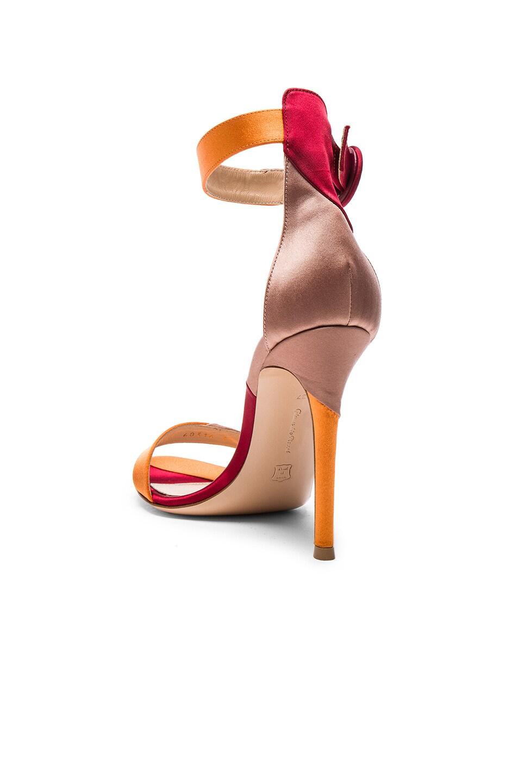 Image 3 of Gianvito Rossi Satin Portofino Heels in Spritz, Granata & Praline