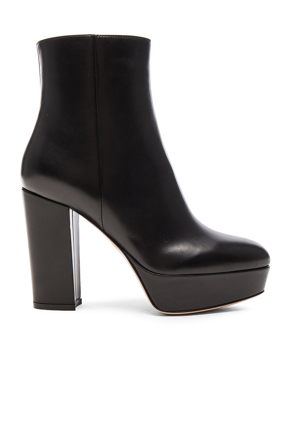 Image 1 of Gianvito Rossi Platform Leather Boots in Black