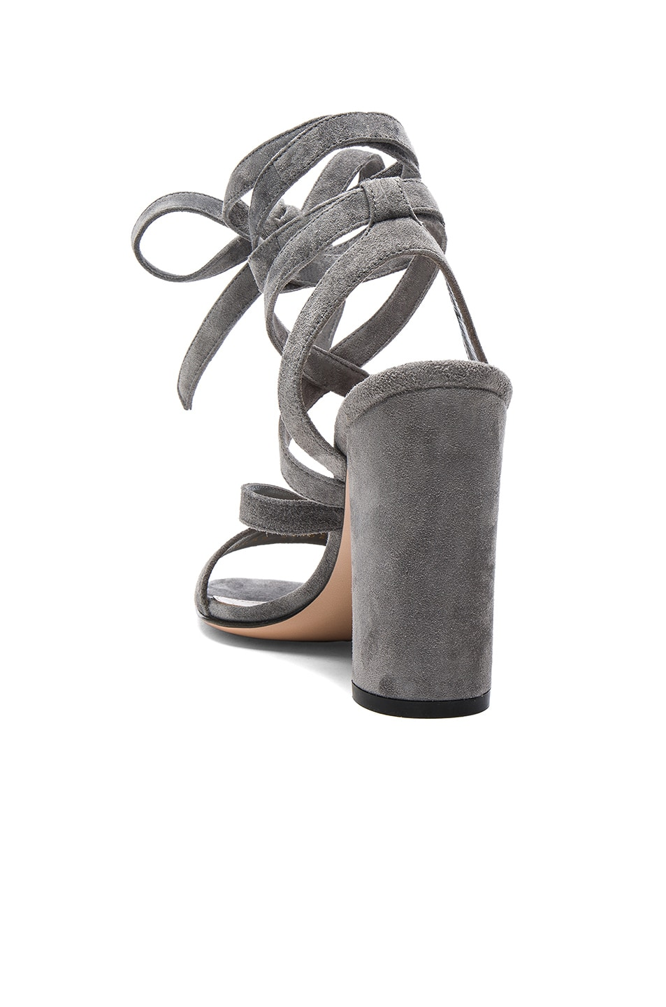 Image 3 of Gianvito Rossi Suede Janis High Sandals in Fumo