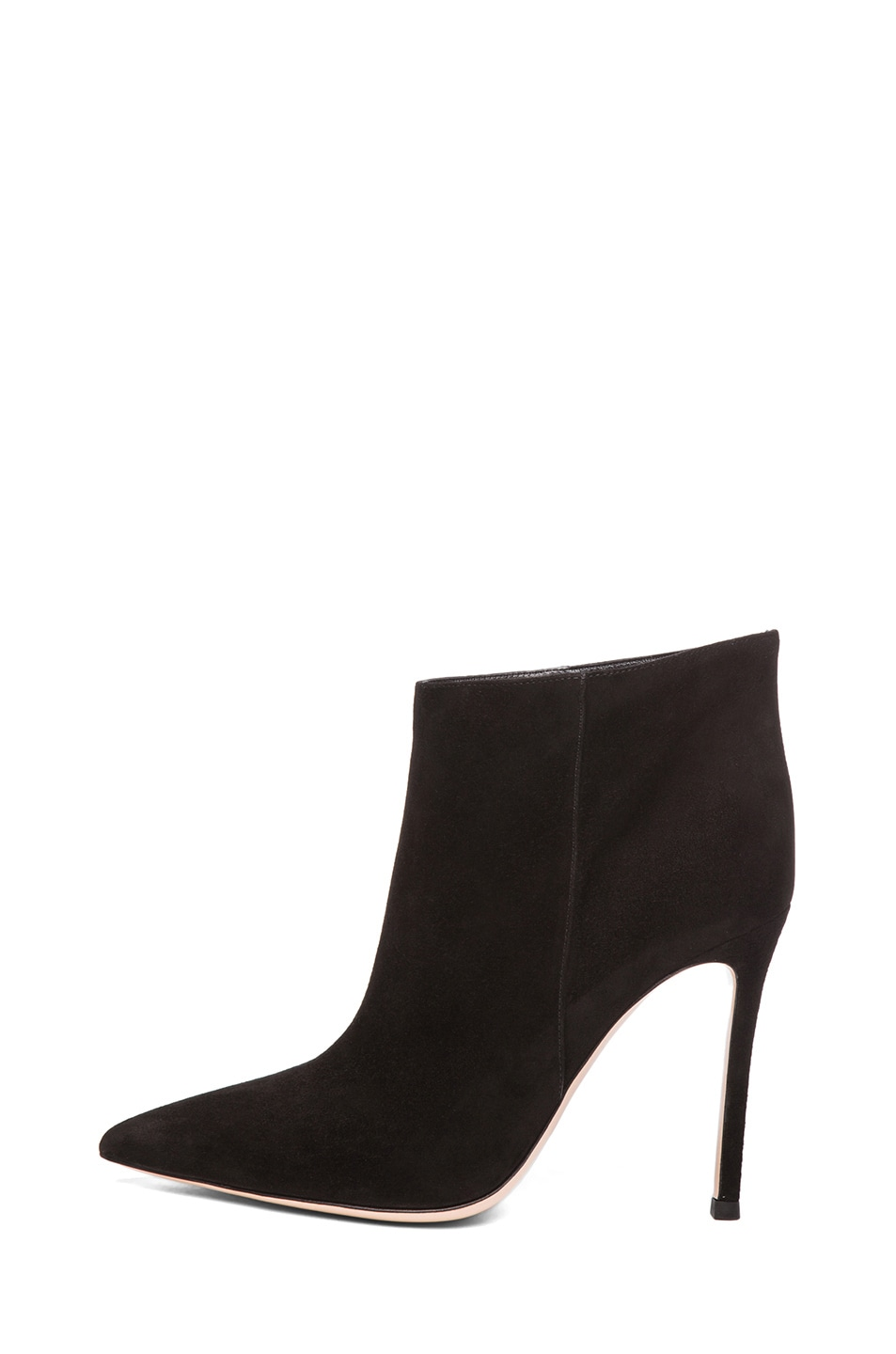 Image 1 of Gianvito Rossi Suede Ankle Bootie in Black