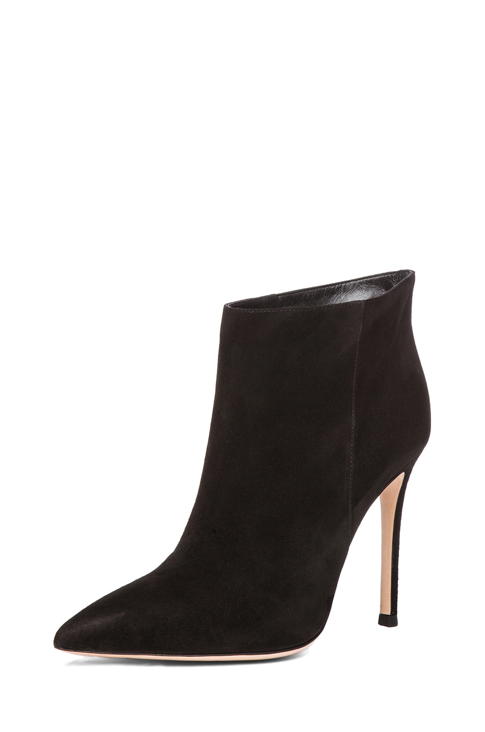 Image 2 of Gianvito Rossi Suede Ankle Bootie in Black