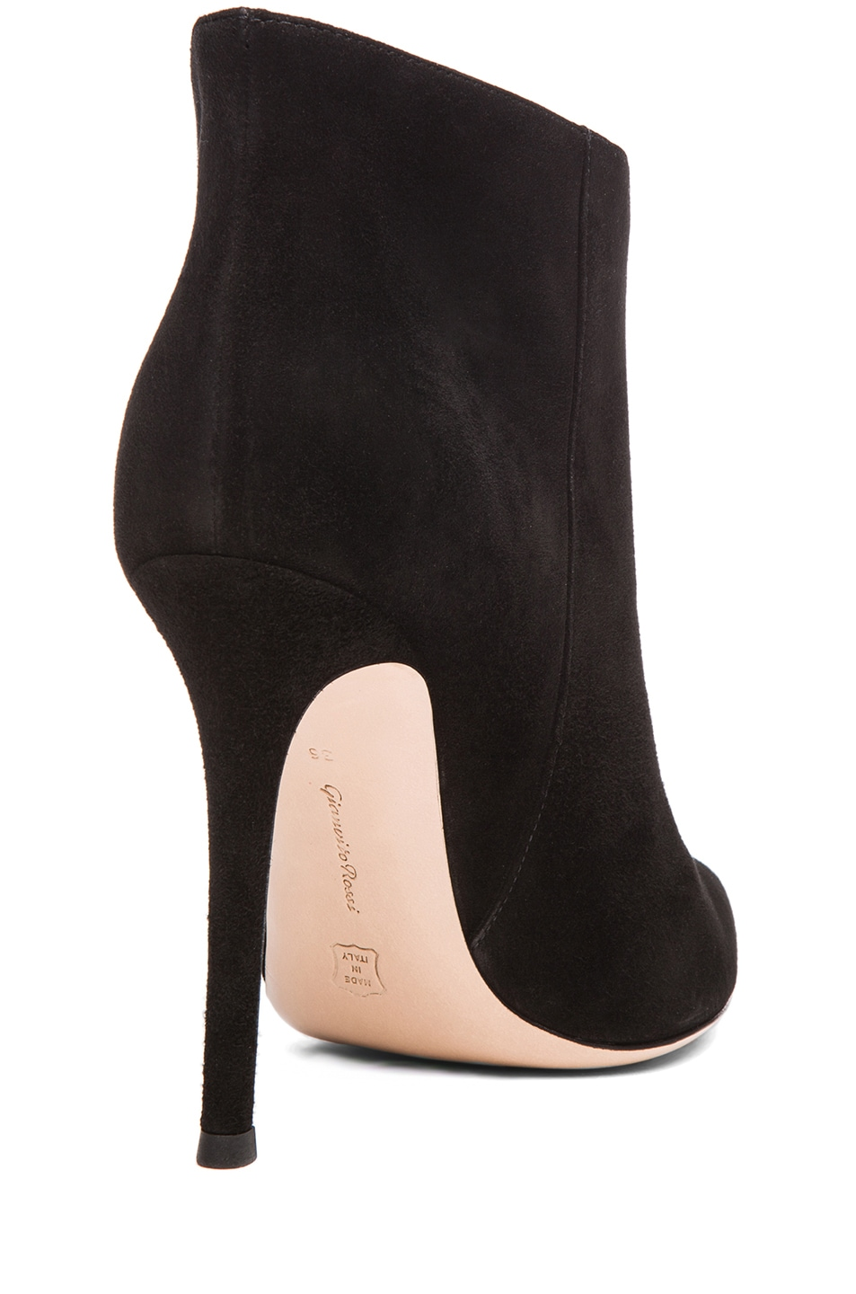 Image 3 of Gianvito Rossi Suede Ankle Bootie in Black