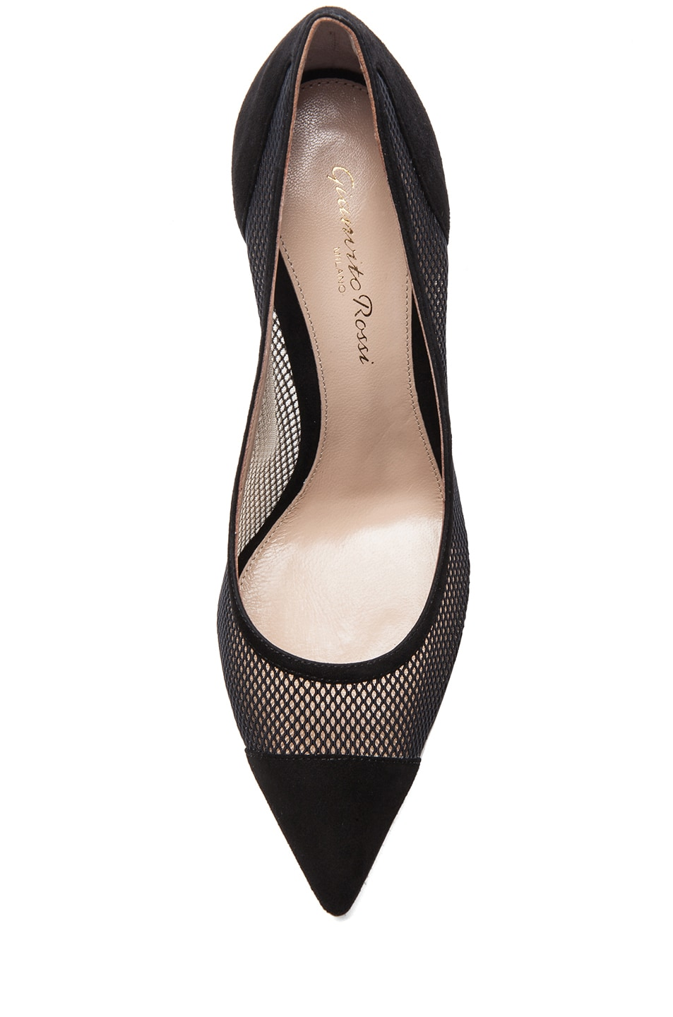 Image 4 of Gianvito Rossi Suede Pumps in Nero & Nude